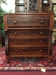 Mahogany and Cherry Antique Empire Chest