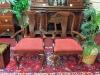 Cherry Queen Anne Arm Chairs