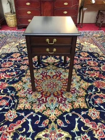 Stickley Two Drawer End Table