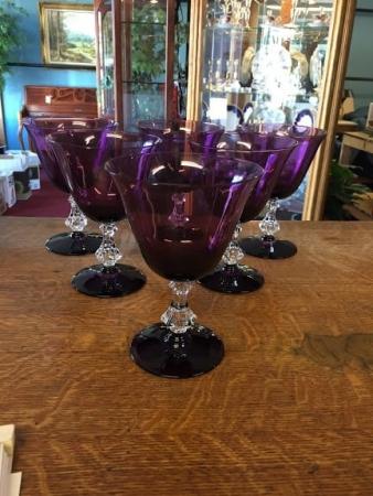 Amethyst Purple Stemware Set