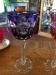 Purple Bohemian Crystal Stemware Goblet