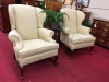 Wheat Colored Wing Back Chairs ($285 each)
