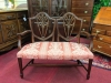 Mahogany Shield Back Settee