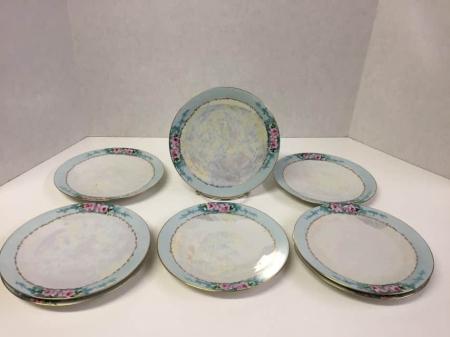 Bavarian Lusterware Plate Set