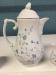 Blue and White Tea Pot, Creamer, Sugar Bowl and Tray