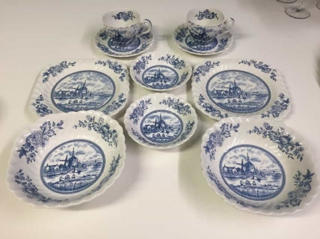 Breakfast for Two! Delft China Set