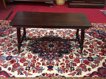 Antique Piano Bench with Glass Feet