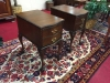Mahogany Ball and Claw Foot Nightstands