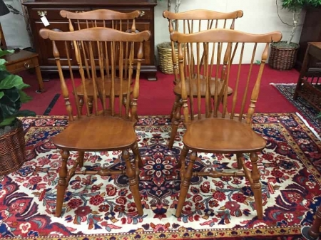 S. Bent Brothers Cherry Windsor Chairs