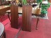Cherry Scalloped Dining Table with Two Leaves