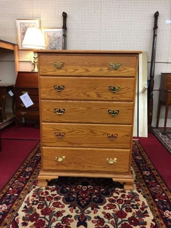Tom Seely Oak Chest of Drawers