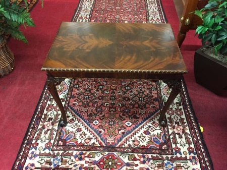 Mahogany Ball and Claw Foot Coffee Table