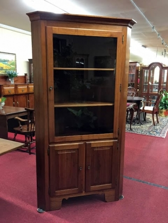 Cherry Cabinet Made Corner Cabinet
