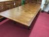 Oak Parquet Top Dining Table