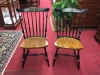 Pair of Black and Cherry Hitchcock Chairs