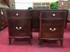 Vintage Pair of Mahogany Nightstands