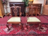 Baker Mahogany Chippendale Style Chairs (Pair)