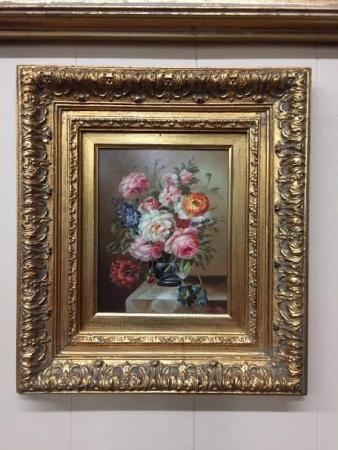 Oil on Canvas of Floral Arrangement