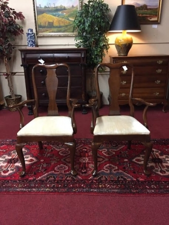 Kling Cherry Queen Anne Arm Chairs