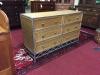 Wicker and Metal Six Drawer Dresser