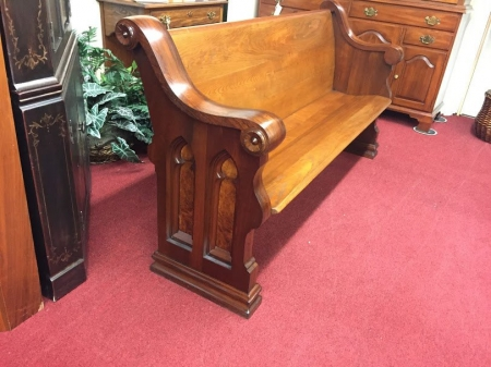 Antique Walnut and Ash Church Pews