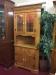 Oak Lighted Corner Cabinet