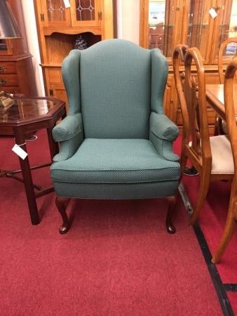 Sherrill Green Wing Back Chair