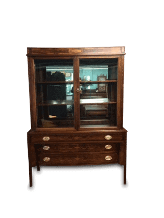 Antique Hepplewhite Style china cabinet