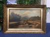 Antique Pastoral Painting - Framed