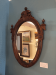 Walnut Victorian Oval Mirror