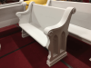 """Antique Church Pew - Painted (54"""")"""