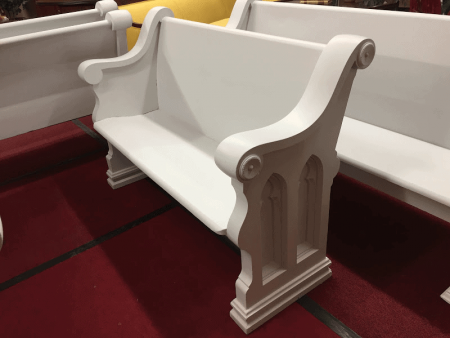 "Antique Church Pew - Painted (54"")"