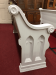 "Antique Church Pew - Painted (71"")"