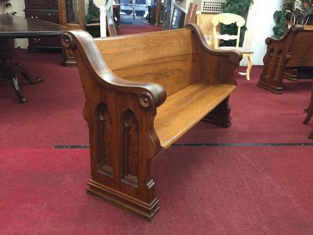 Antique Church Pew - Five Foot Long