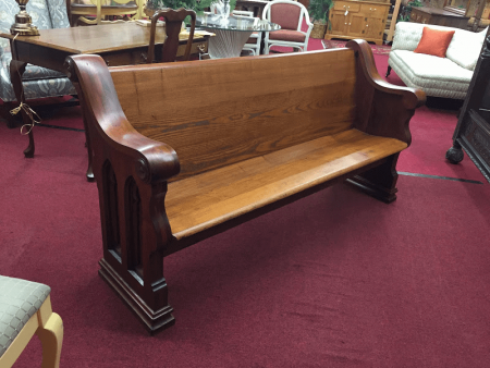 Antique Church Pew - 6 Foot Long