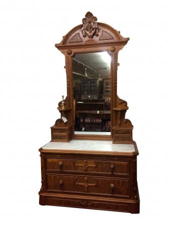 Antique Dresser With Mirror Marble Top Dresser