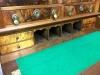Antique Burl Walnut Double Bonnet Secretary Desk