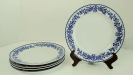 "Nippon ""Royal Sometuke"" Dinner Plates - Set of Five"