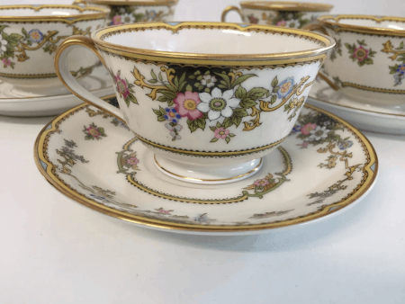 """Noritake """"Cordova"""" Tea Cups and Saucers"""