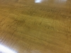 Tiger Maple Colonial Reproduction Table Vintage Custom Made