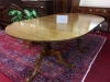 Tiger Maple Colonial Williamsburg Reproduction Table Vintage Custom Made