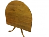 Tiger Maple Colonial Table Vintage Custom Made Tilt Top
