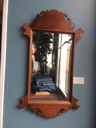 Custom Made Cherry Chippendale Mirror