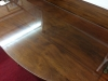 demilune table with drawer