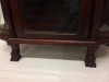 Antique Paw Foot China Cabinet