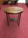 Vintage Oval Inlaid Mahogany Side Table
