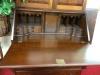 Craftique Solid Mahogany Blind Door Two Piece Secretary Desk