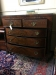 Antique Mahogany Swell Empire Chest