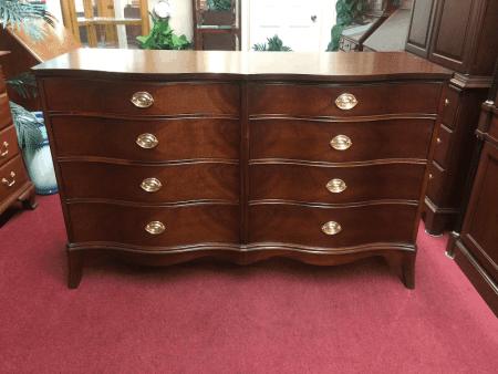 Vintage Mahogany Double Dresser