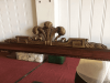 Vintage Mahogany Mirror with Gilded Top